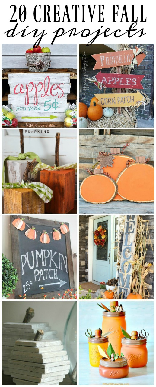 Get ready for fall with these 20 DIY Projects!