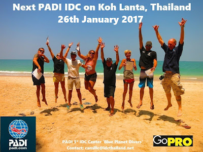 Next PADI IDC on Koh Lanta, Thailand starts 26th January
