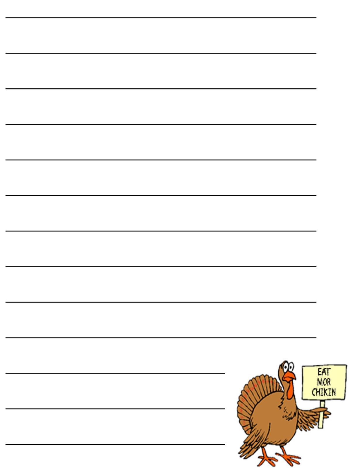 Free Thanksgiving Writing Worksheet