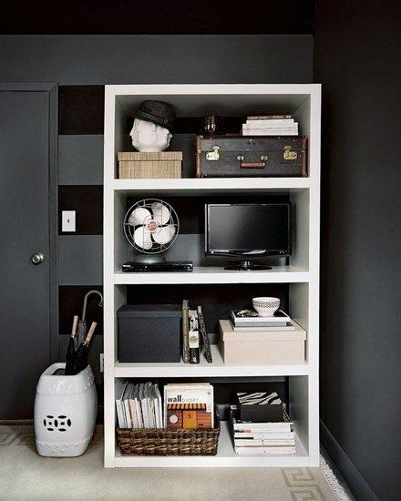 Taming open shelves ~ Home Interior Design Ideas