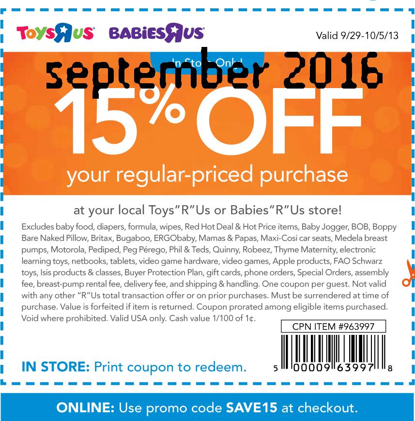 Babies r us printable coupons stroller
