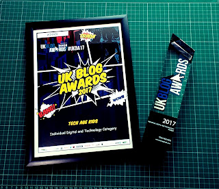 Tech Age Kids wins UK Blog Awards - Certificate and Trophy