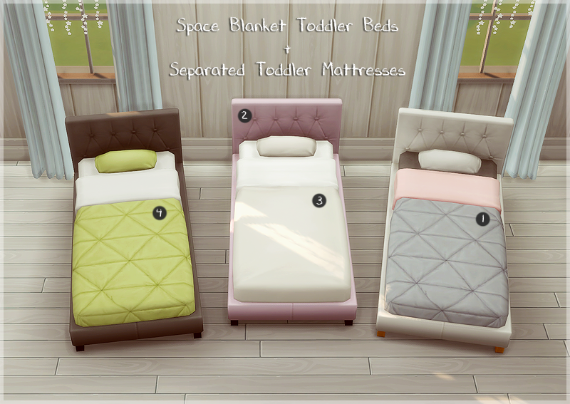sims 4 blog space blanket toddler bed frame and mattress by allisas