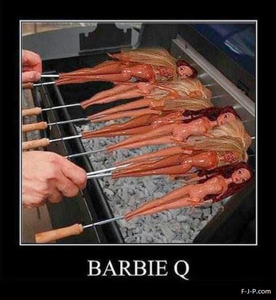 Funny Barbie Q BBQ Joke Meme Picture