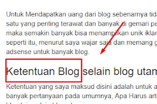 Blog selain blog utama di acc adsense