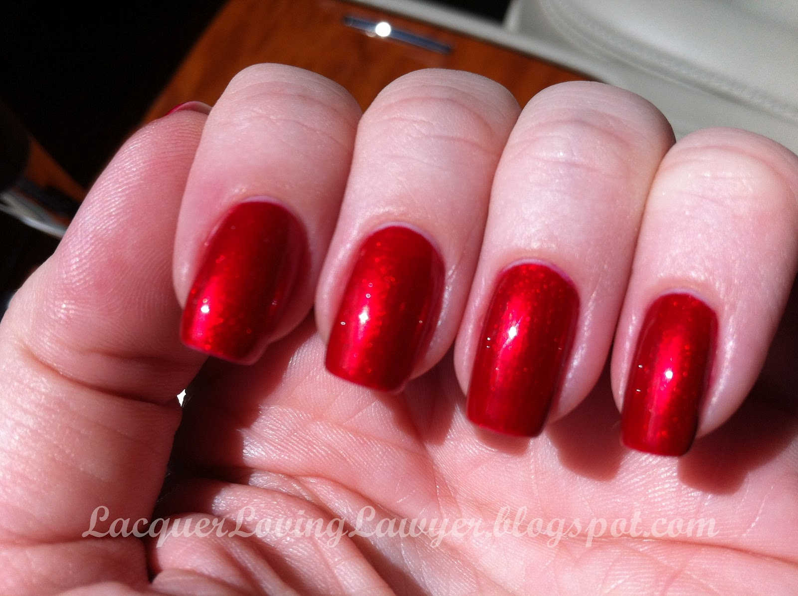 Lacquer Loving Lawyer A Nail Polish Blog Opi Danke Shiny Red