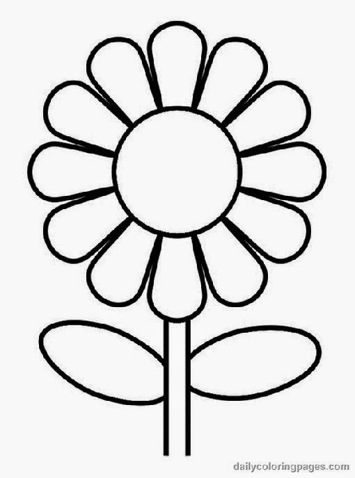 coloring flower pictures free coloring pictures
