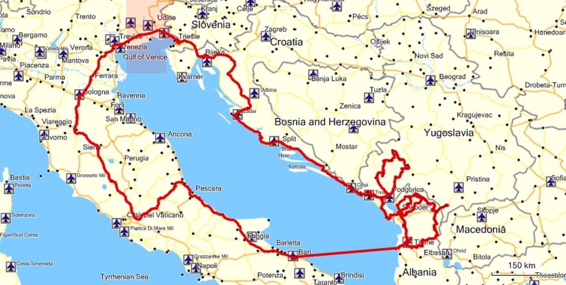 Cartina Puglia Albania.Orizzonti Dell Est Balcani 2011