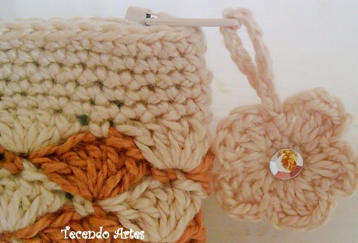 Monedero crochet con rombos | Crochet y Dos agujas - Patrones de tejido