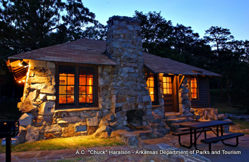 My favorite places cabin 61 at mount nebo state park for Cabins near mount magazine