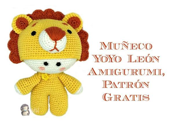 Muñeco Yoyo león amigurumi