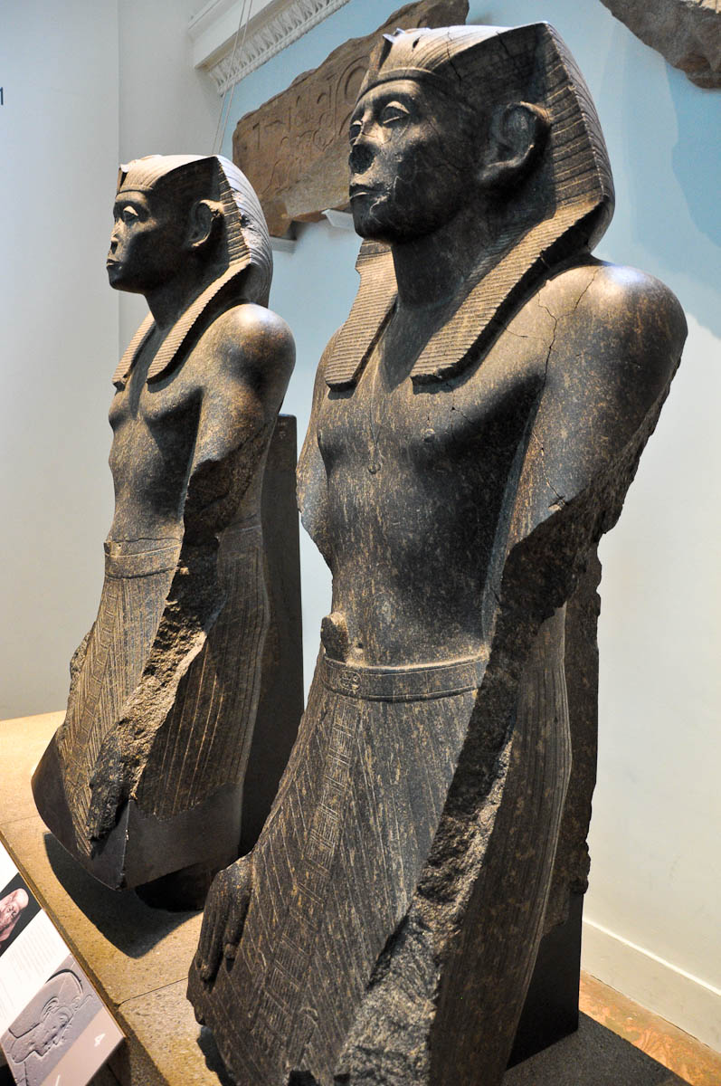 Statues, Ancient Egypt, The British Museum, London, England