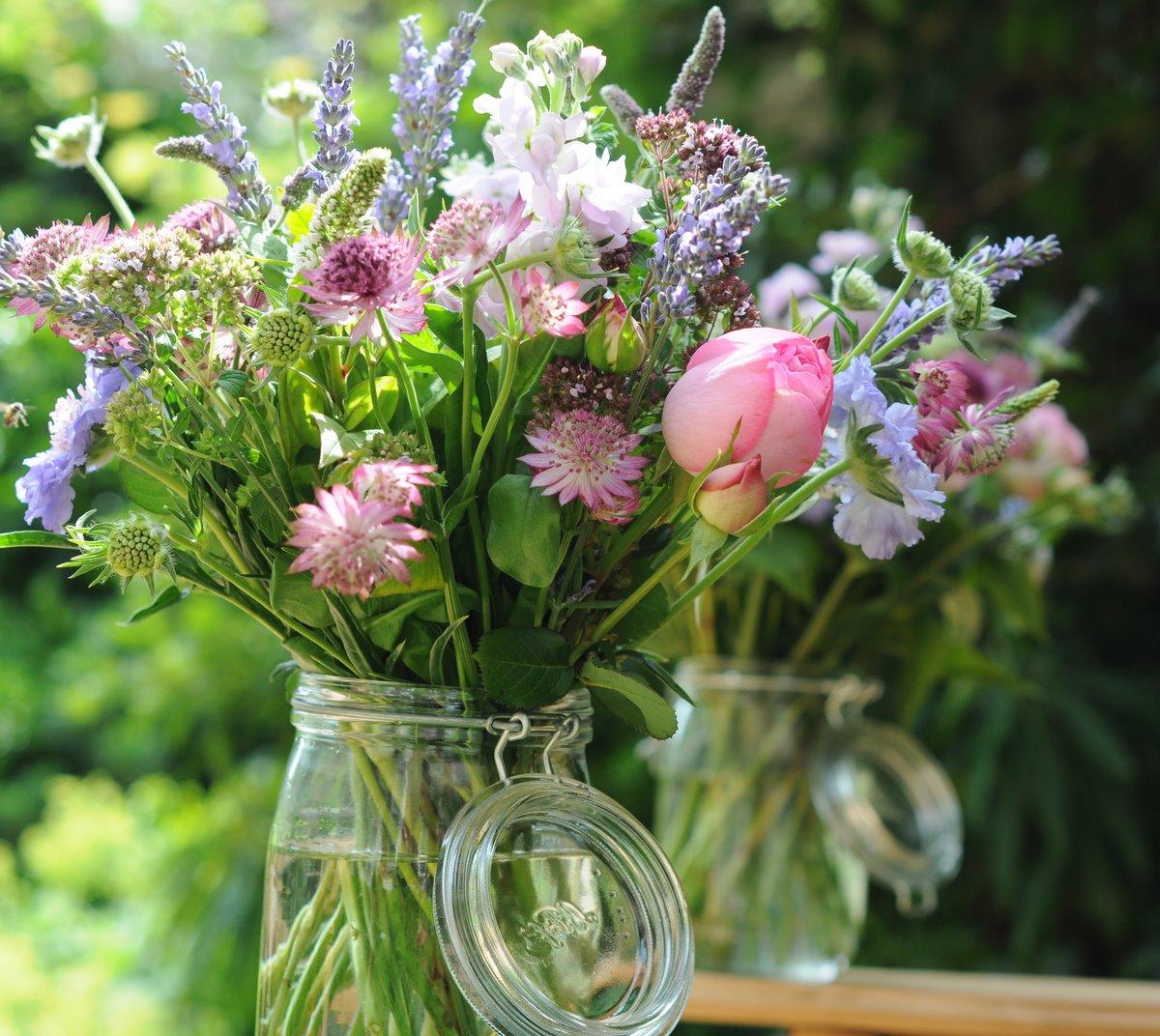 Summer Wedding Flowers: Spriggs Florist: Kilner Jars & English Summer Flowers