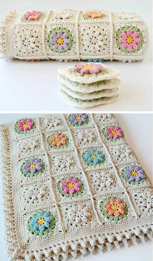 Primavera Flowers Granny Square - Tutorial