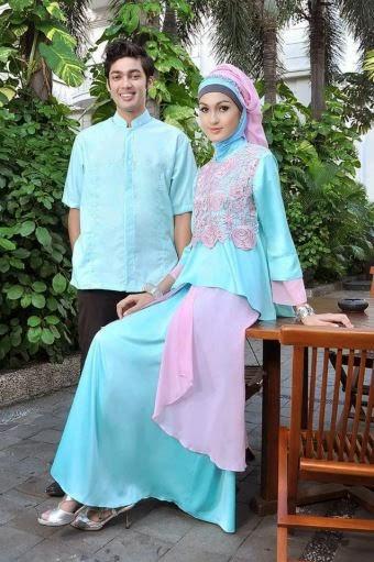 Gambar Model Baju Couple Muslim Terbaru 2015