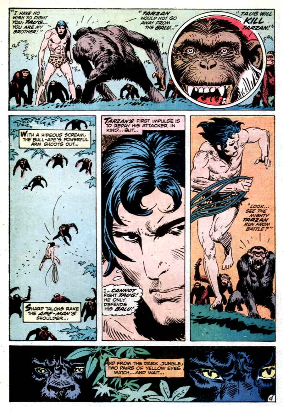 Tarzan v1 #213 dc comic book page art by Joe Kubert