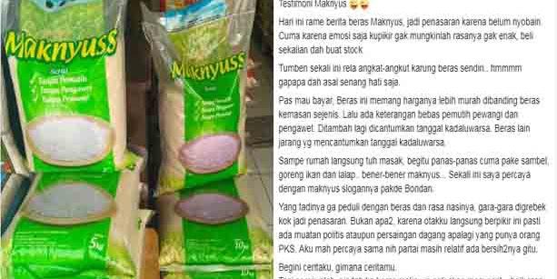 "Musibah Pembawa Berkah, ""Membuming"" Konsumen Ramai Mencari Beras Maknyuss"