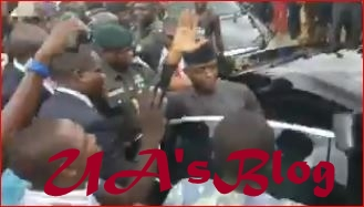 See What Osinbajo Did After Angry Abuja Residents Blocked His Convoy Over Alleged Takeover Of Their Land by Military (Video)