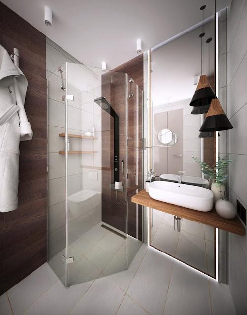 Phòng tắm trong căn hộ 25m2