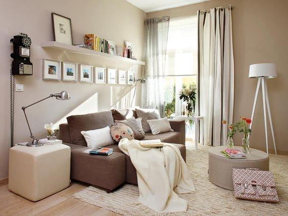 Salas pequenas decoradas decora o e ideias for Salas pequenas 2016