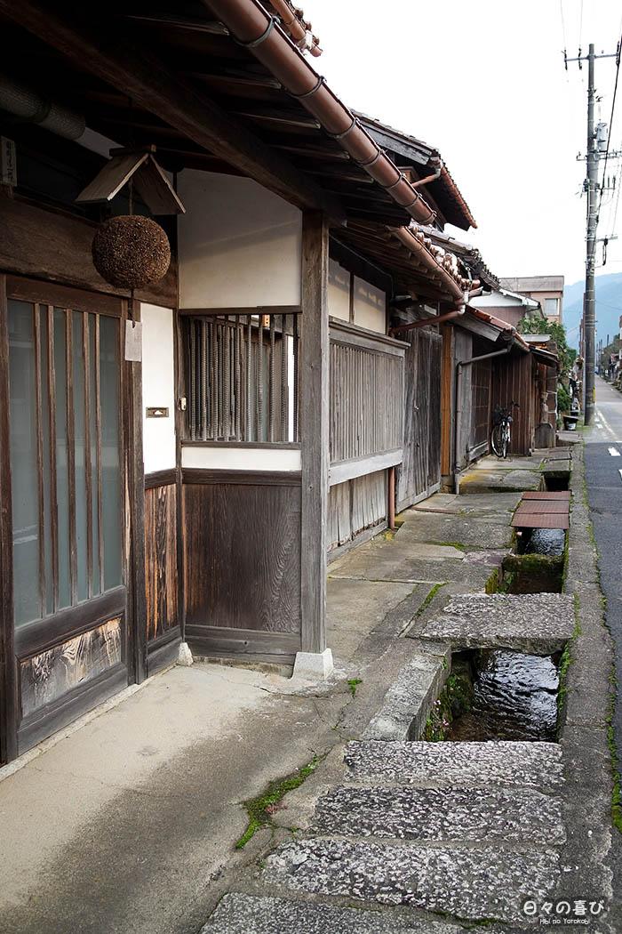 façade maisons en bois à Chizu