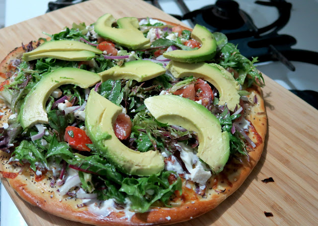 Salad Pizza | Los Angeles Cult Recipes | salt sugar and i.JPG