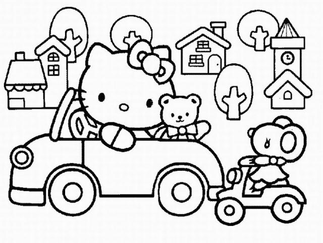Gambar Mewarnai Hello Kitty - 5