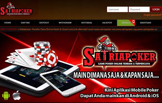 SatriaPoker Agen Poker Online Terpercaya Indonesia