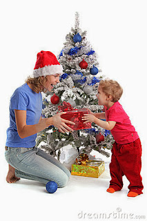 Navidad de Papá e hijos