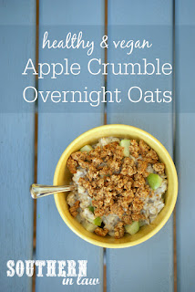 Healthy Apple Crumble Overnight Oats Recipe