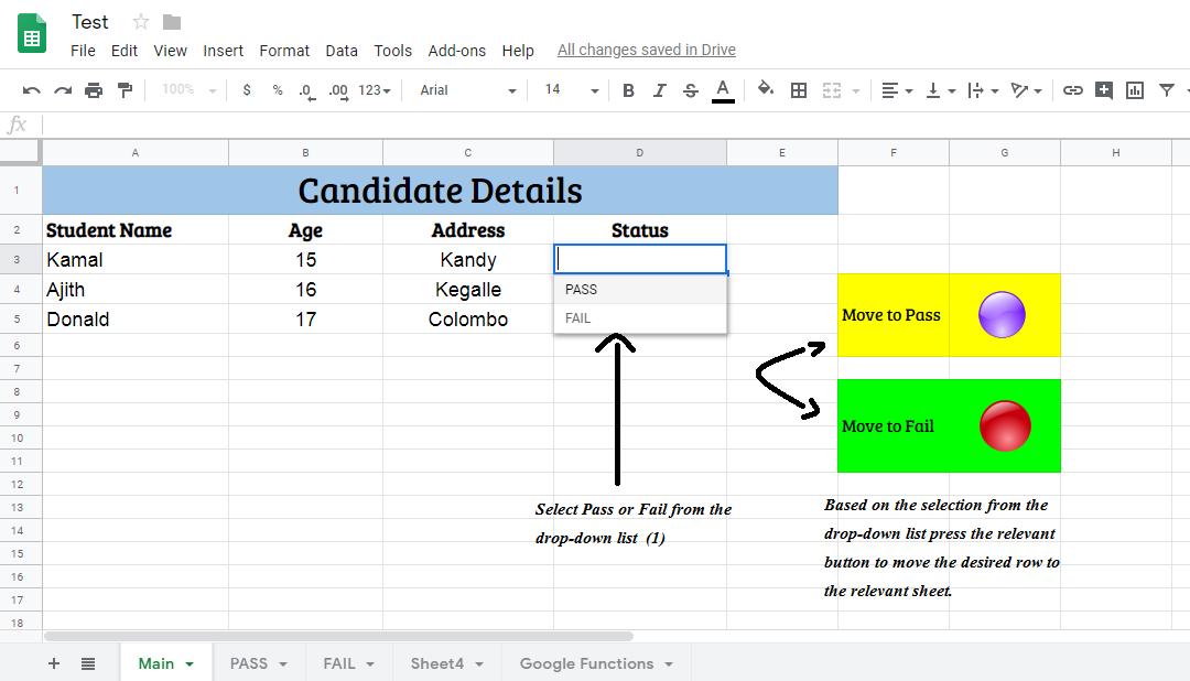 Google Sheet Development: Move Google Sheet row to anther