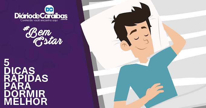 5 dicas rápidas para dormir melhor!