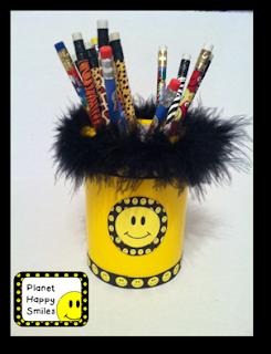 Pen Holder, Planet Happy Smiles