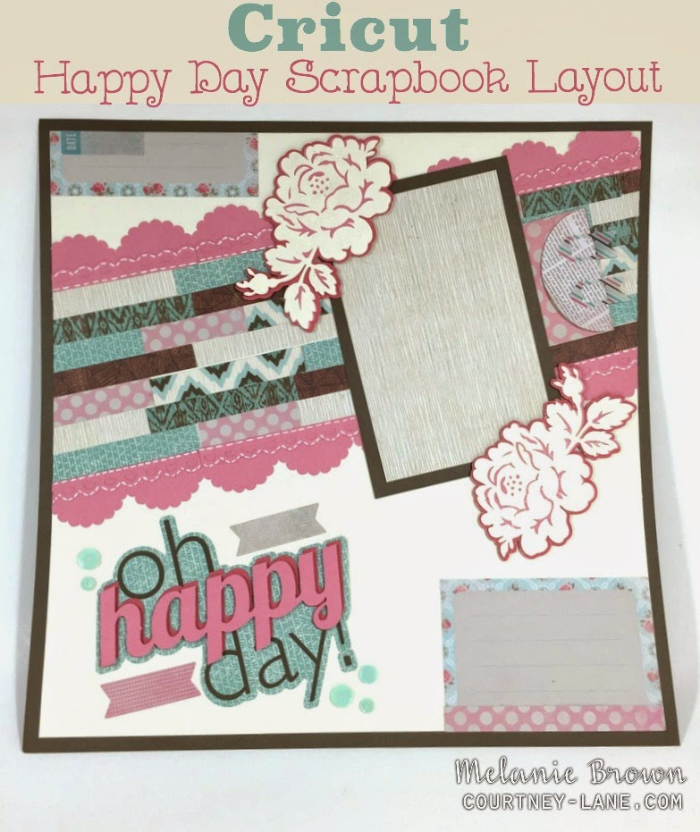 Happy Day Scrapbook layout