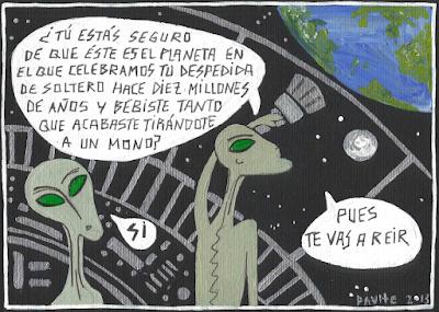 Meme de humor sobre el origen de la vida en la Tierra