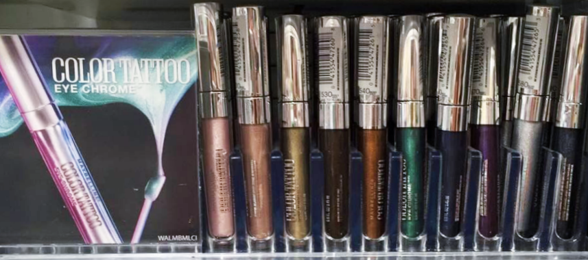 Reader swatches all ten shades of the new maybelline for Color tattoo eye chrome