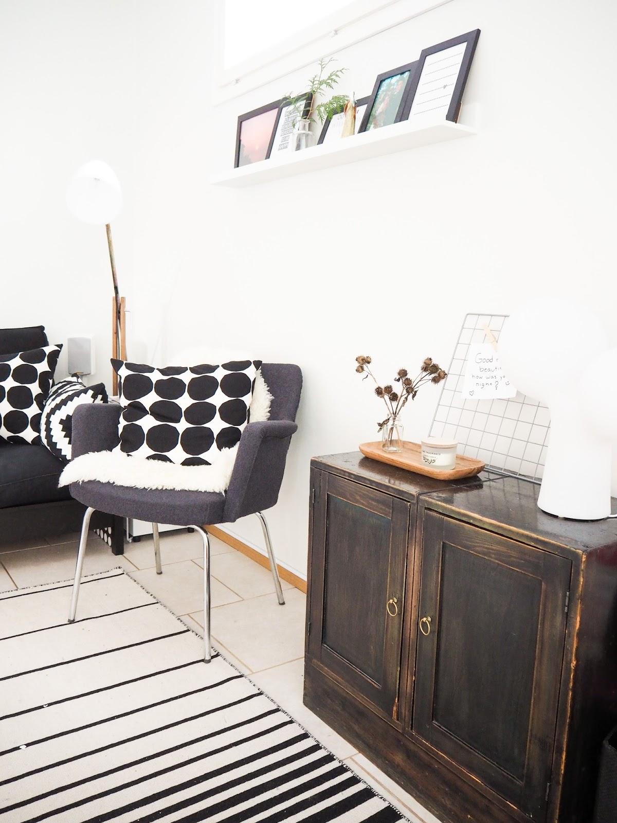 Saippuakuplia olohuoneessa -blogi, kuva Hanna Poikkilehto, olohuone, sisustus, koti, diy, sisusta pienellä budjetilla, sisusta halvalla,