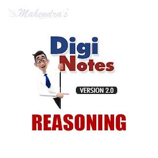 Answer Key Of Digi Notes - 2.0 | Reasoning -IBPS Clerk/SO Special | 29 .11. 2017