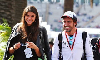 Fernando Alonso C A C C S Girlfriend Linda Morselli