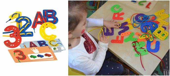 juguetes y juegos para ayudar a aprender a leer y escribir, alfabeto y números para coser