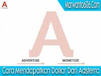 Cara Mendapatkan Dollar Dari Adsterra