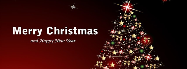 Merry Christmas New Year fb cover
