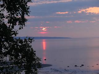 Lever de soleil sur Baie Comeau