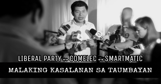 MUST WATCH| Malaking banta ang Liberal Party, Comelec, at Smartmatic sa Pilipinas - GET IN