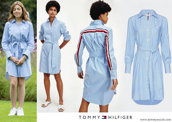 Princess Alexia wore Tommy Hilfiger Lara Stripe Shirt Dress Copenhagen Blue