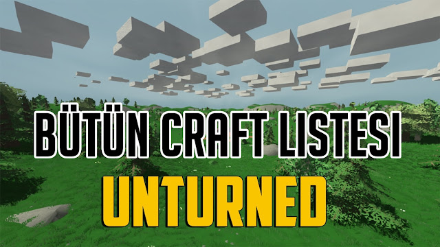 Unturned Craft Listesi