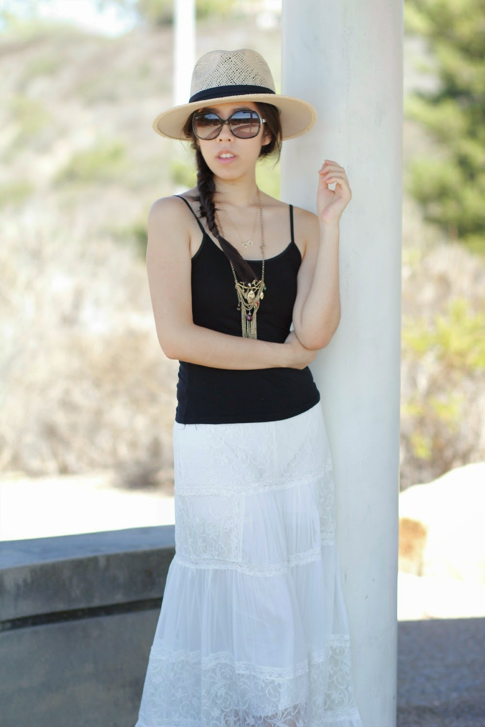 Adrienne Nguyen - How to Layer on GOld Necklace for  a Simple Outfit