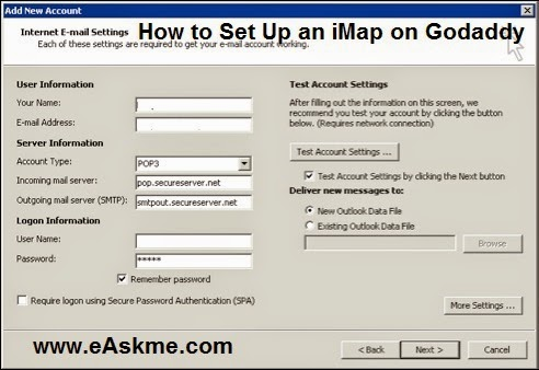 How to Set Up an iMap on Godaddy : eAskme