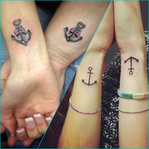 22 ideias de tatuagens pra você fazer com a sua melhor amiga