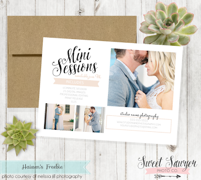 Free Mini Session Photography Template